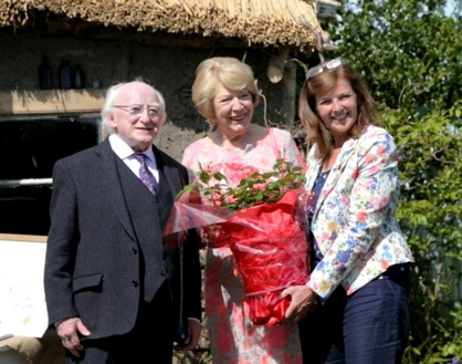 President and Mrs Michael D Higgins - The second shrub was given to the President, Michael D Higgins, and Mrs Higgins at Bloom at the end of May 2015
