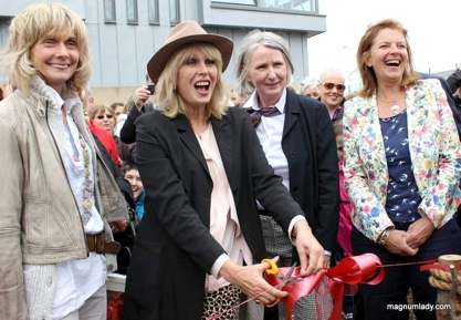 Joanna Lumley - Joanna Lumley was also given a WB Yeats rose when she visited Sligo on the 150th anniversary of Yeats's birthday, the 13th June 2015. She came to open the Gold Medal-winning 'Lake Isle of Innisfree' garden, after it was transferred from Bloom to The Model grounds in Sligo Town.
