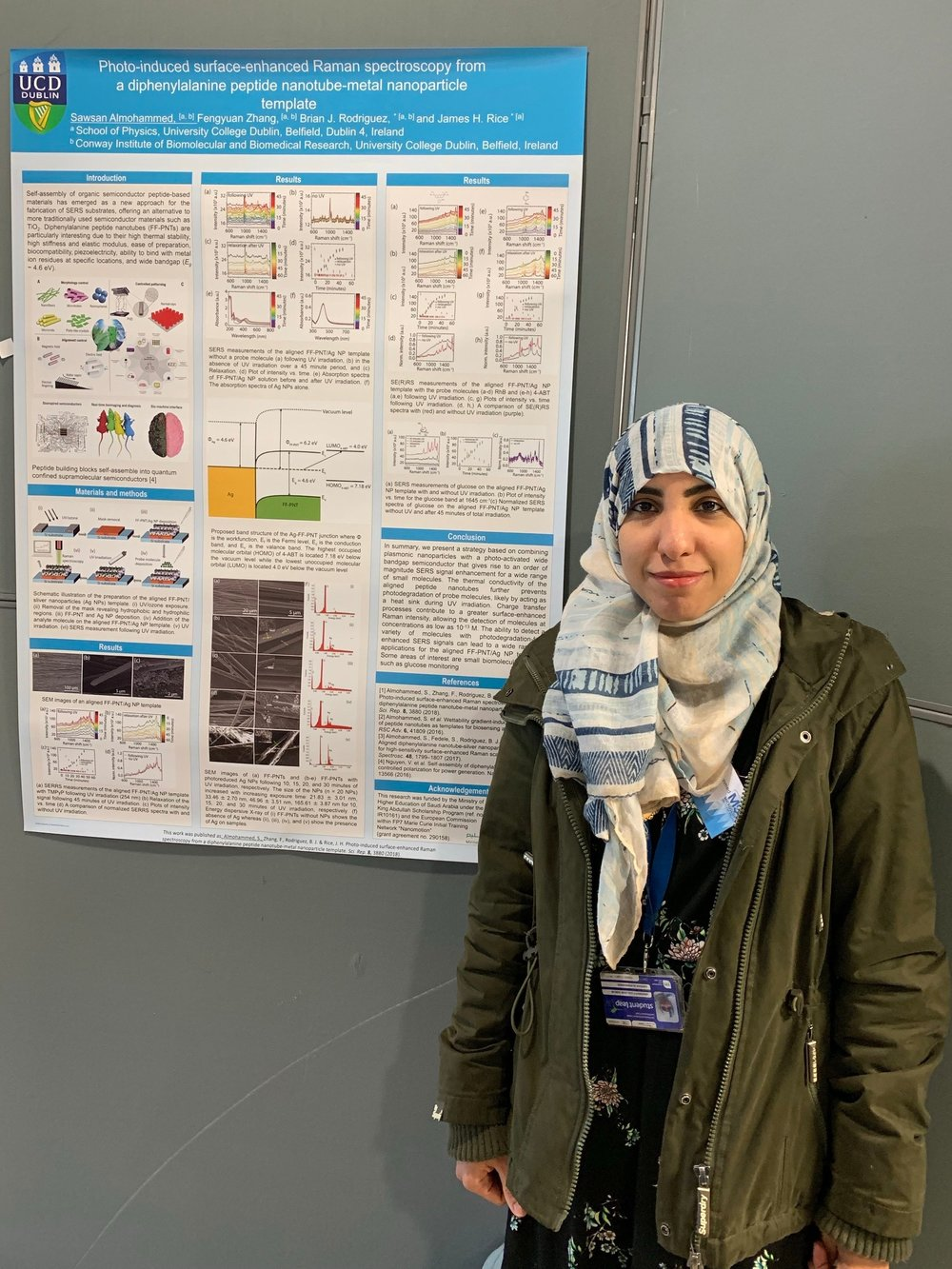 Sawsan at her poster