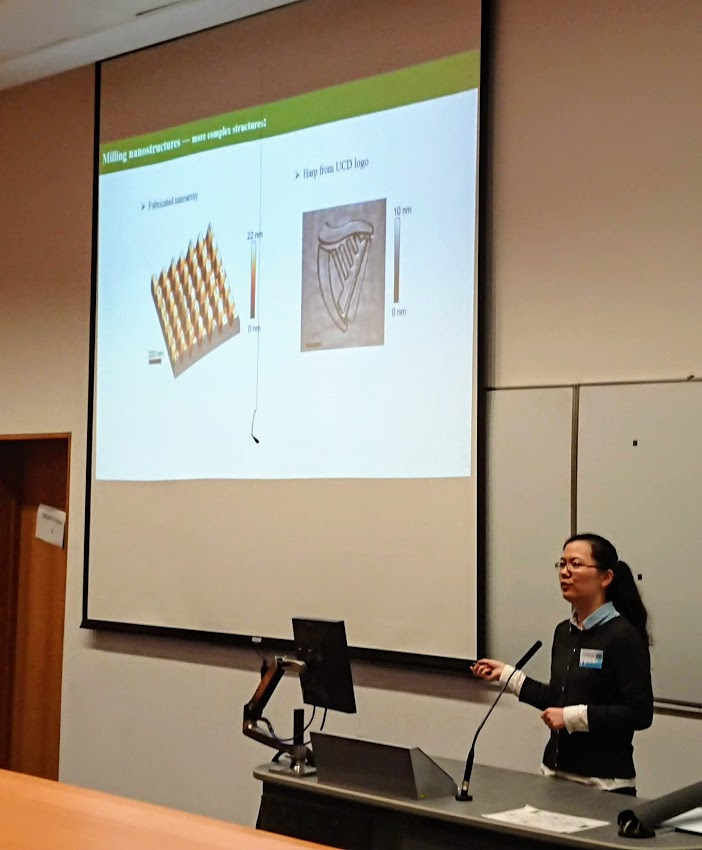 Fengyuan during her presentation