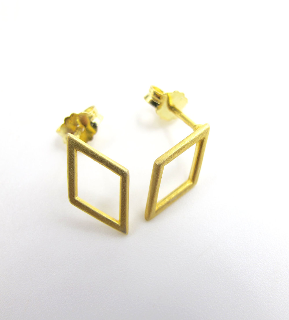 Geometric deigns from Danish jewellery company, Nordahl. Available in Sterling silver, gold plated, or Oxidised silver.