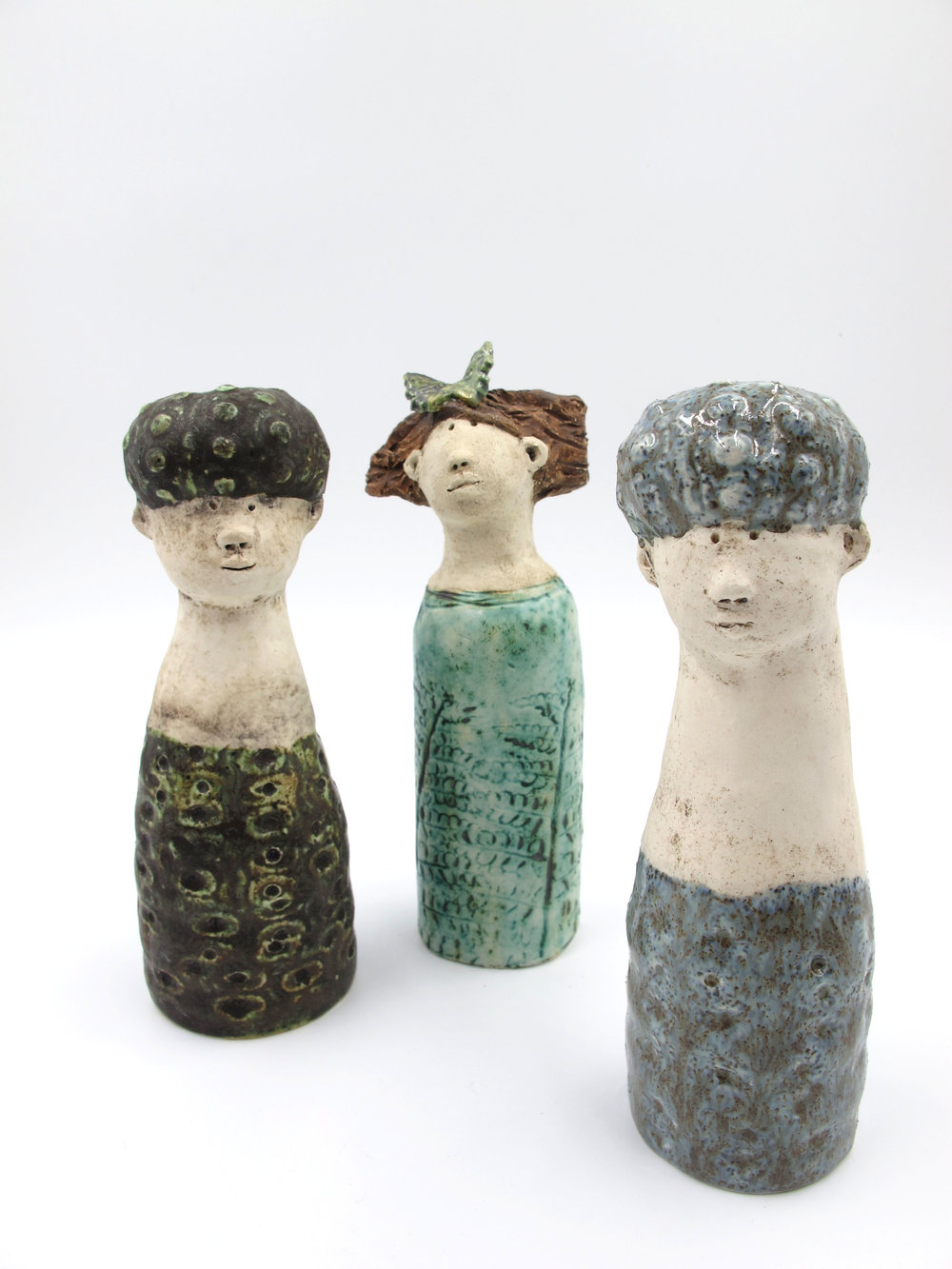 Handmade ceramic figures by Victoria Atkinson