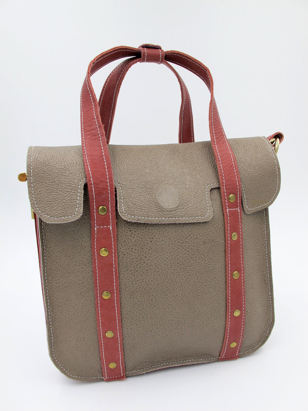 Handcrafted leather bag, made in England by Harriet Sanders