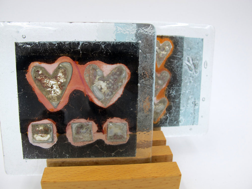 Glass fused coasters from Lara Aldridge Glass