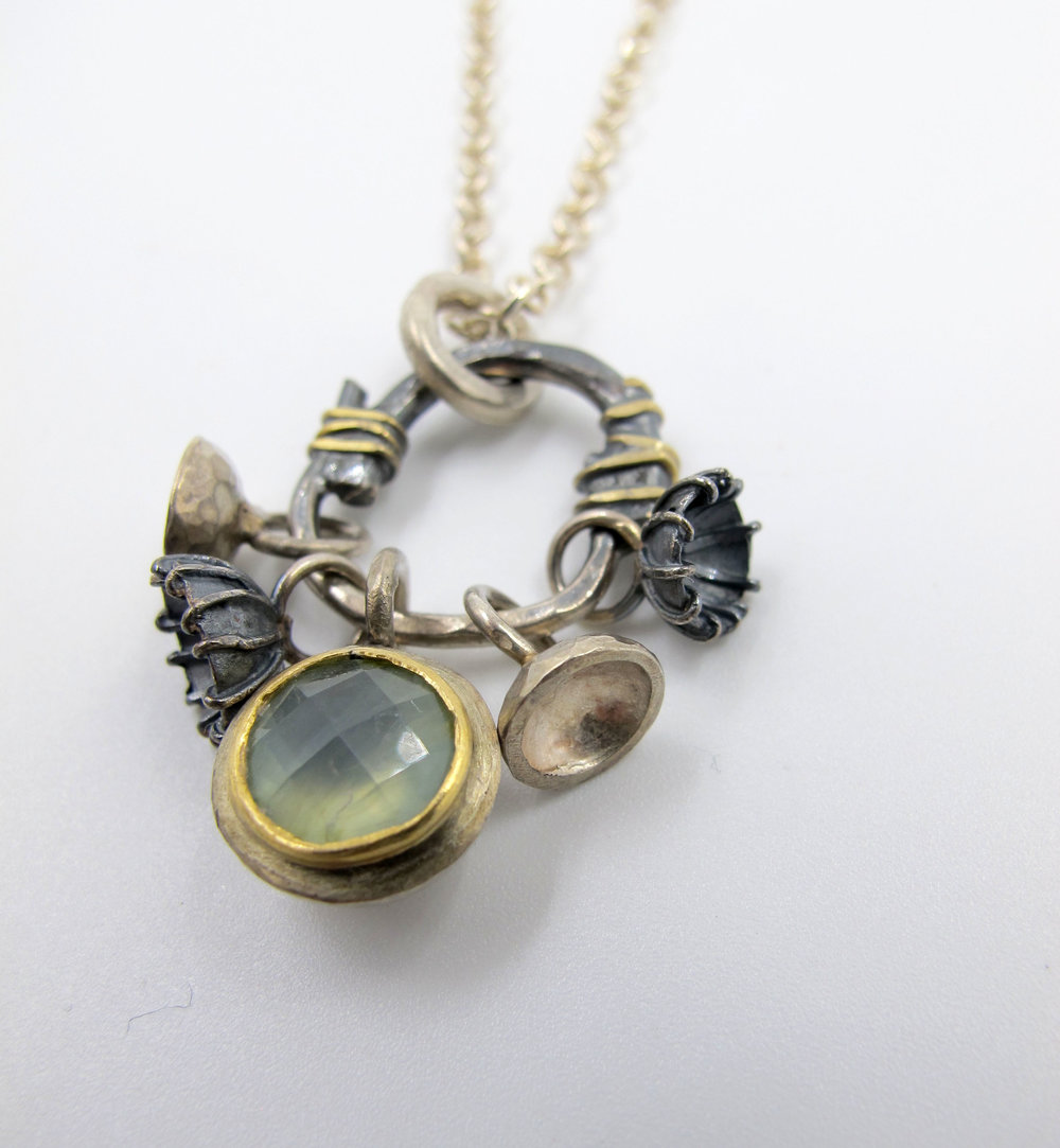 Green Amethyst necklace by Adele Taylor