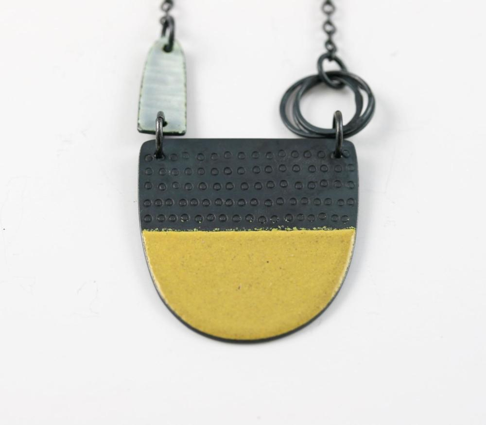 Caroline Findlay silver and enamel contemporary jewellery