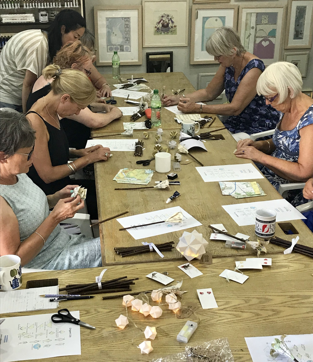 Our last Origami Lily flowers workshop