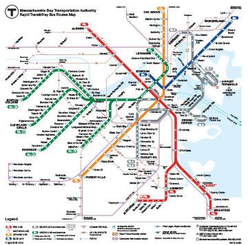 MBTA Route Map -