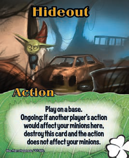 Affect:  A card is affected if it is moved, returned, destroyed, or has an action attached.