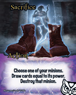 Destroy:  When a card says to destroy another card, put the destroyed card in its owner's discard pile.