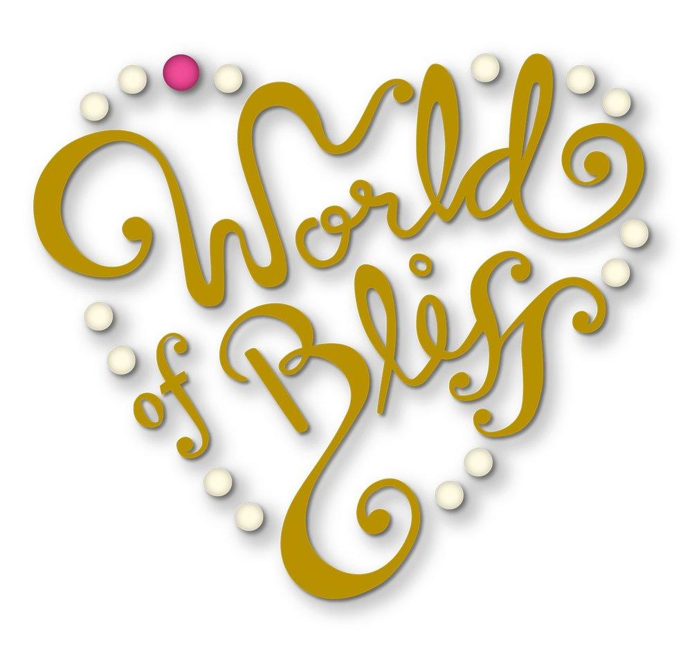 Märke för  World of bliss,  redaktionell webbsida för kvinnor.