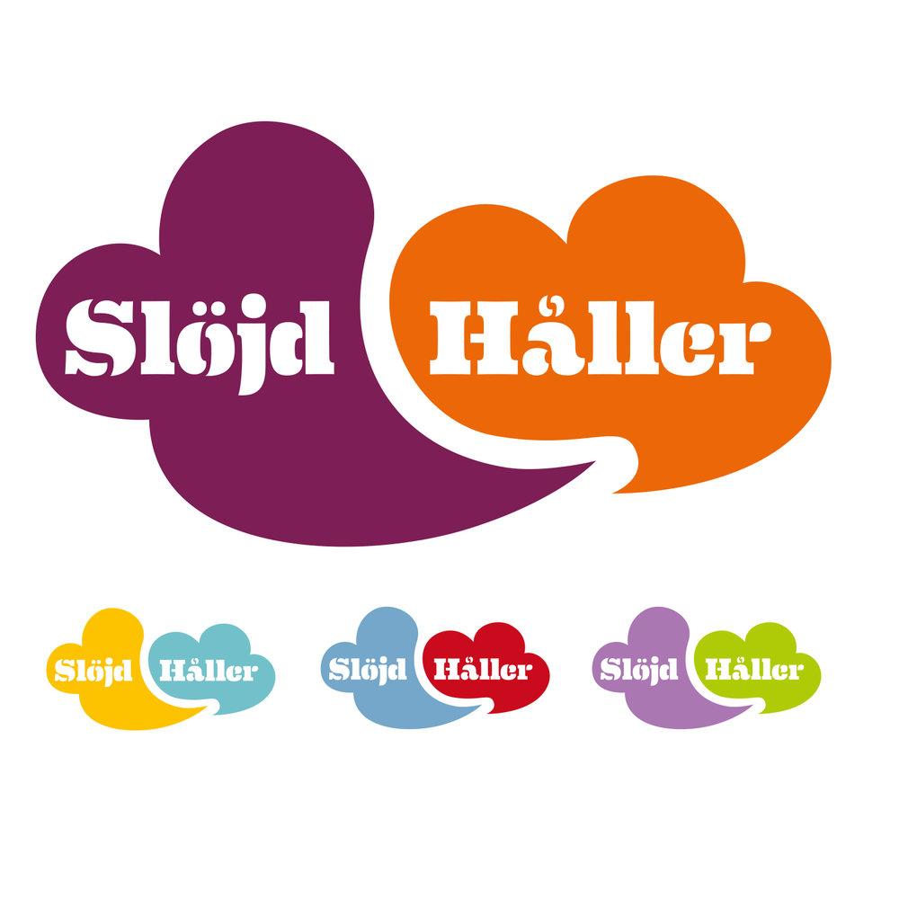 Logotype till Slöjd håller, en webbsida av landets hemslöjdskonsulenter.