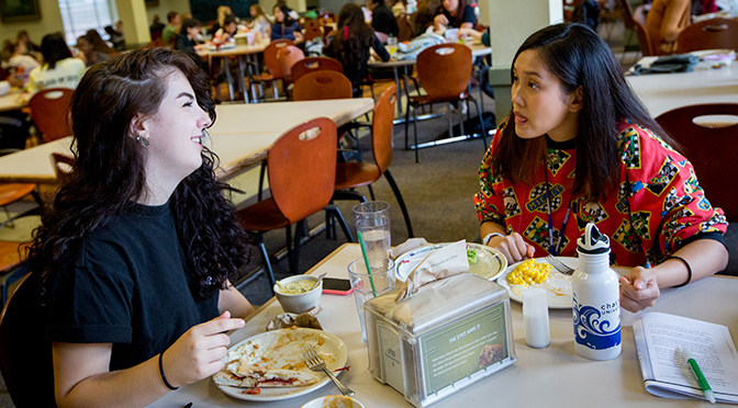 Students eating in Anderson Dining Hall