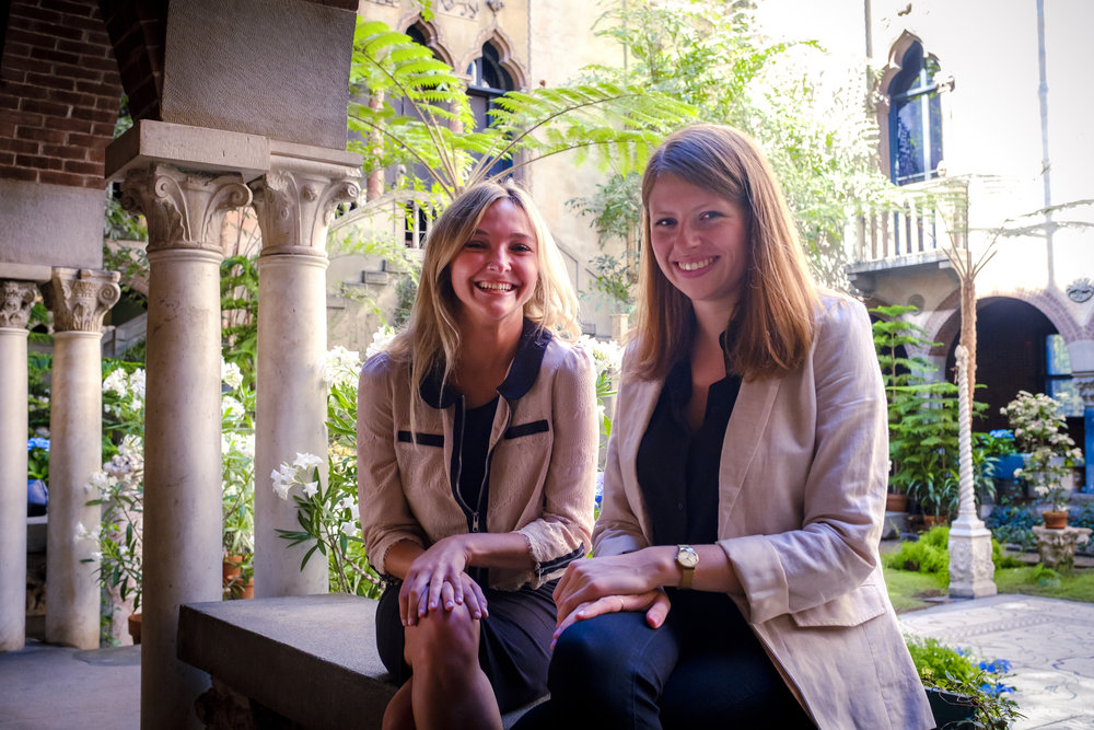 Scanlon and author Chloe Bell, '15
