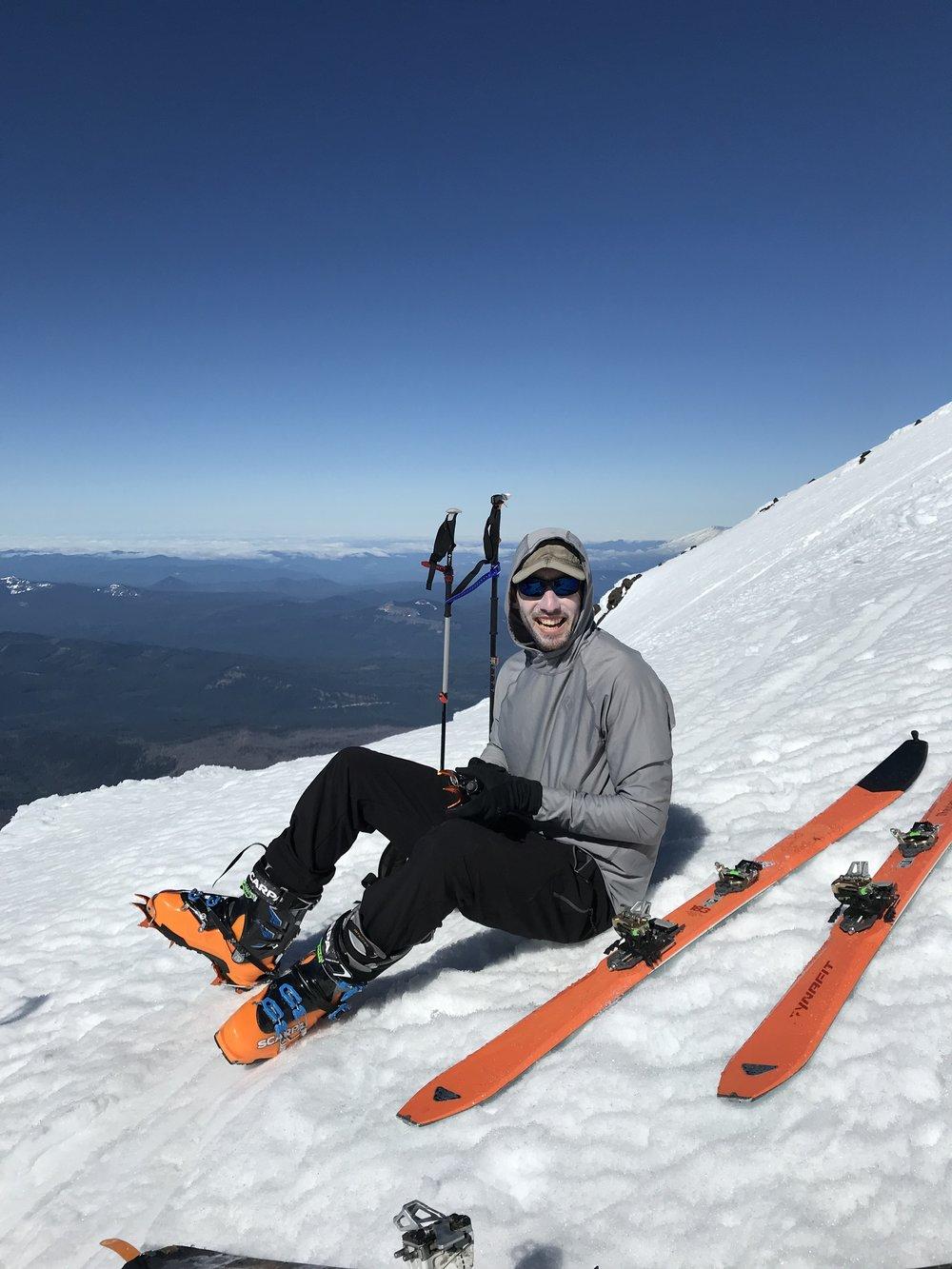 putting on crampons - Near Piker's Peak, Washington