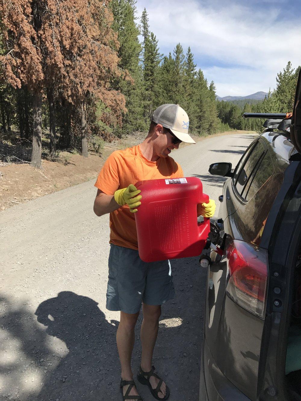 Filling up - Seneca, Oregon