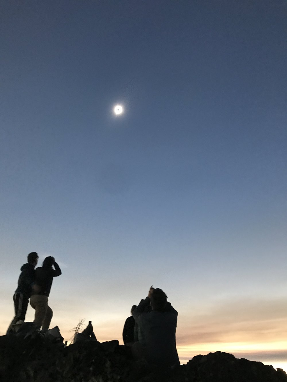 during totality - Above High Lake, Oregon