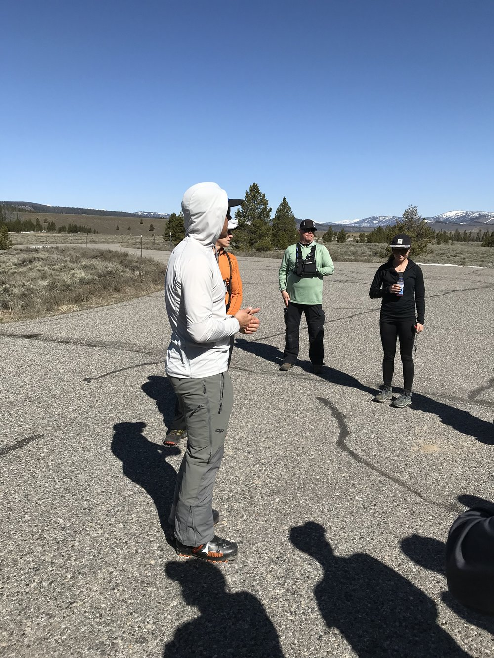 listening to chris lundy - Stanley Ranger Station, Idaho