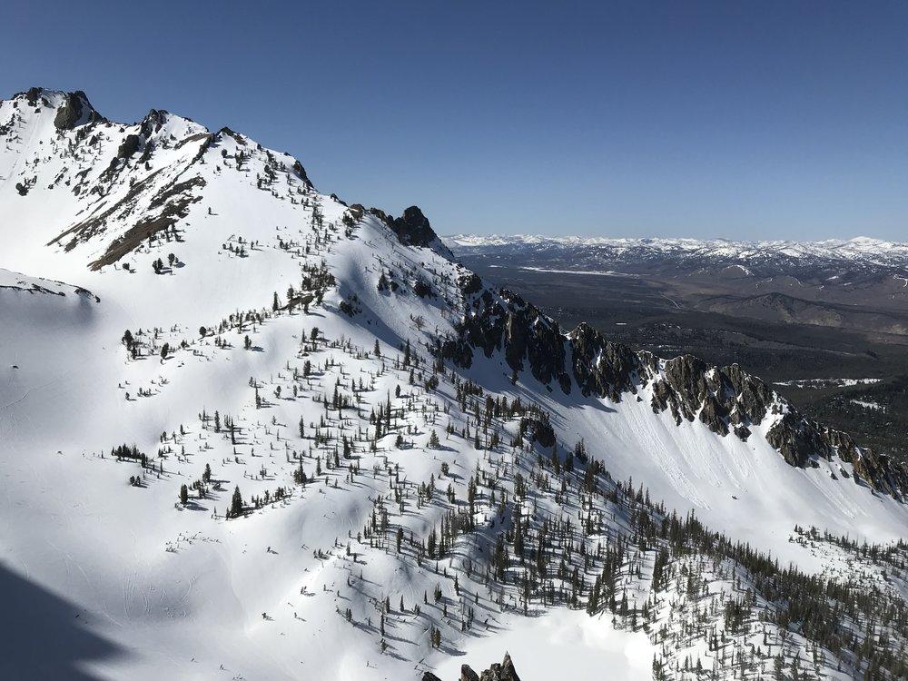 sawtooth ski terrain - View from