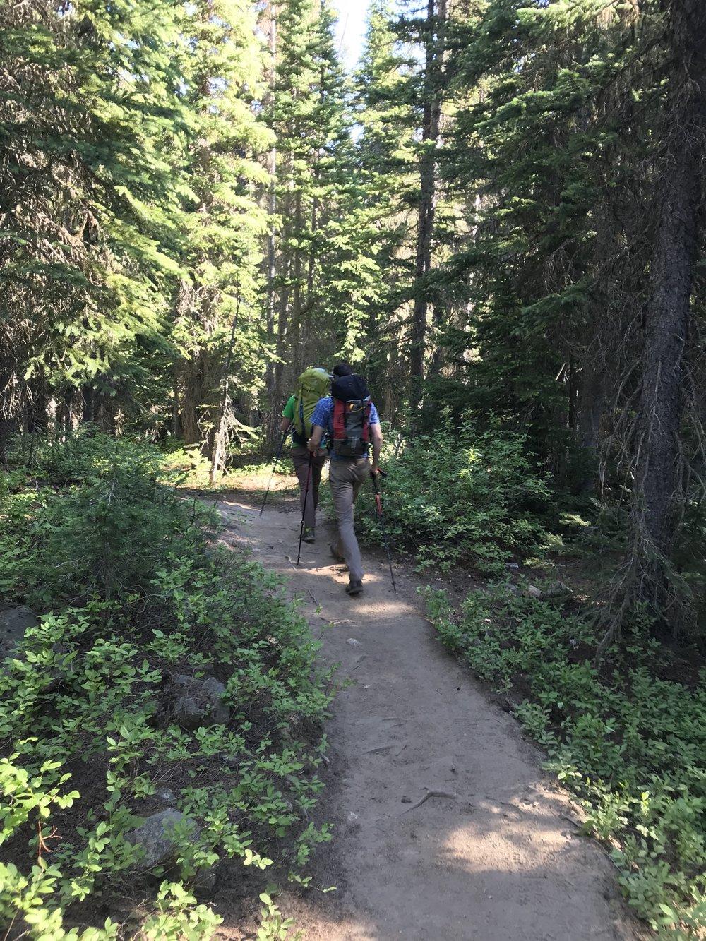 Hiking toward Liberty Bell - North Cascades, WA