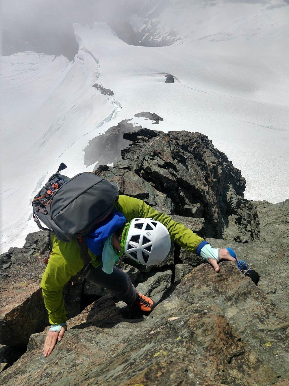 Near the summit, climbing the south ridge - Mt. Shuksan, WA