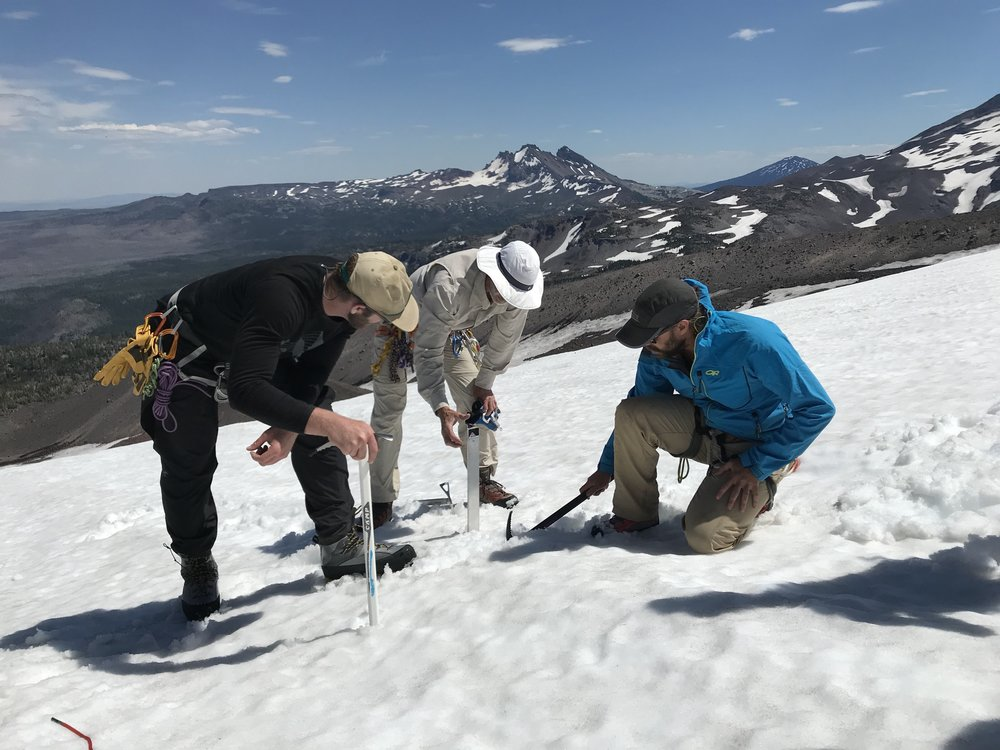Digging a deadman - Hayden Glacier, OR