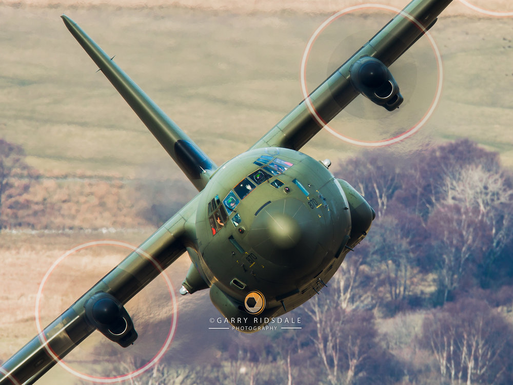 RAF Hercules - A Friendly Wave During Low Level Sortie