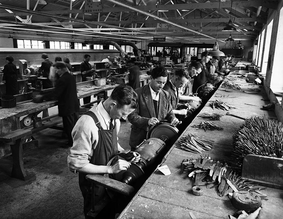 The Newbridge Silverware Factory in 1958