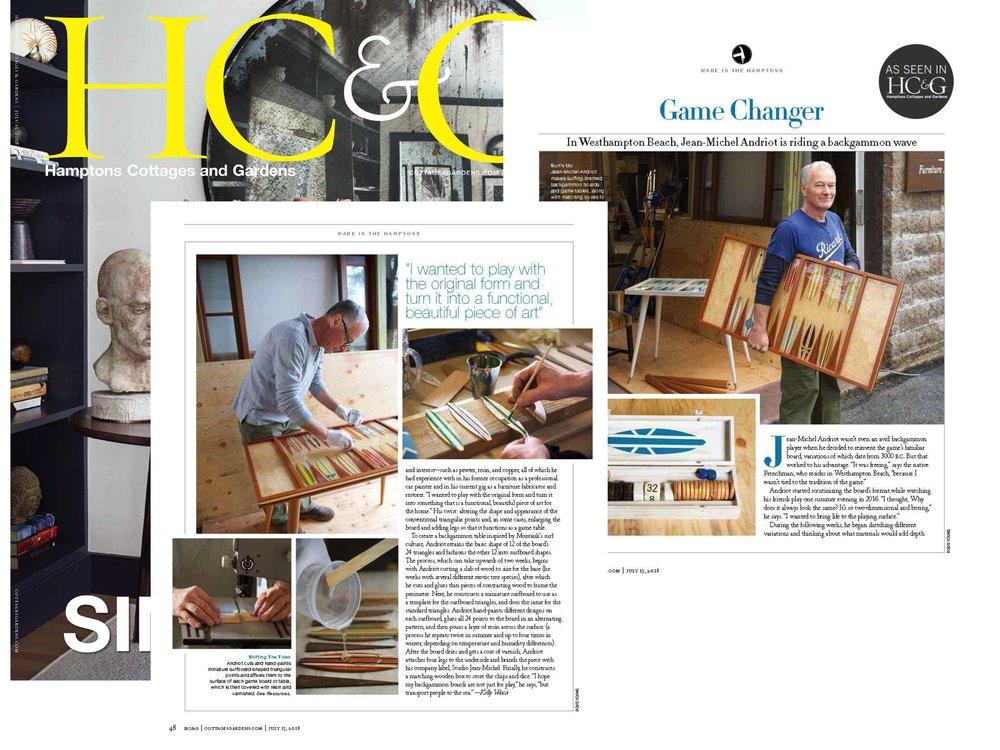 Studio Jean Michel Backgammon Home