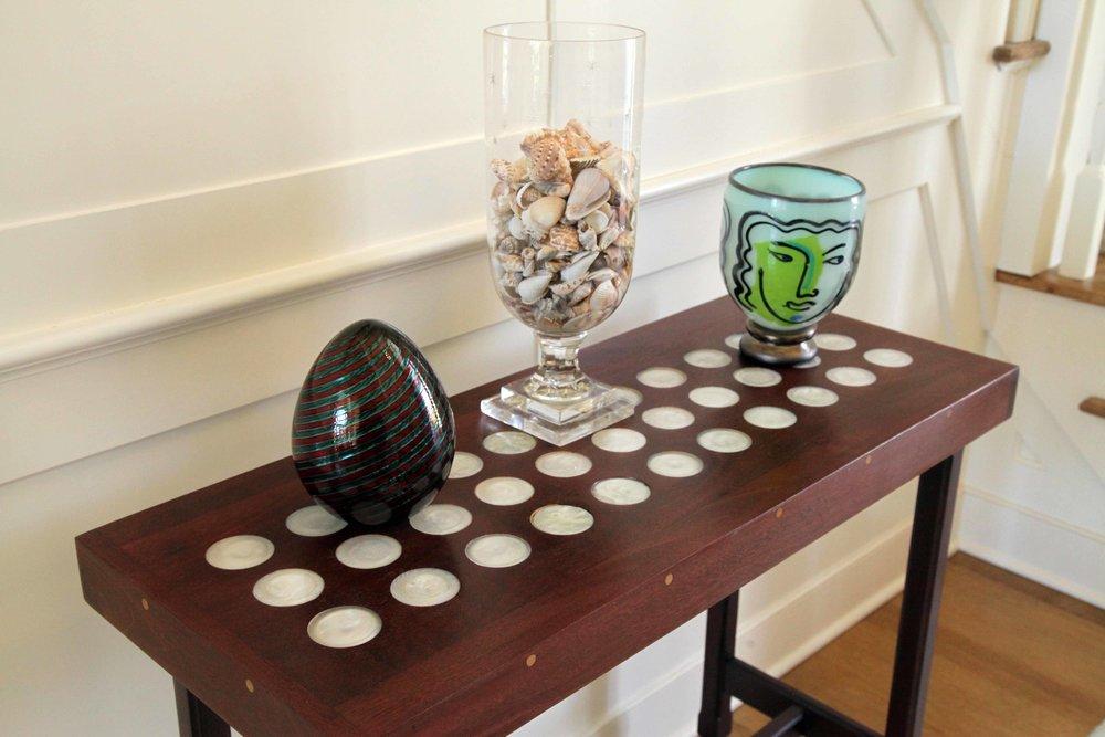 Ordinaire Mahagony Table Pearl Circlesweb