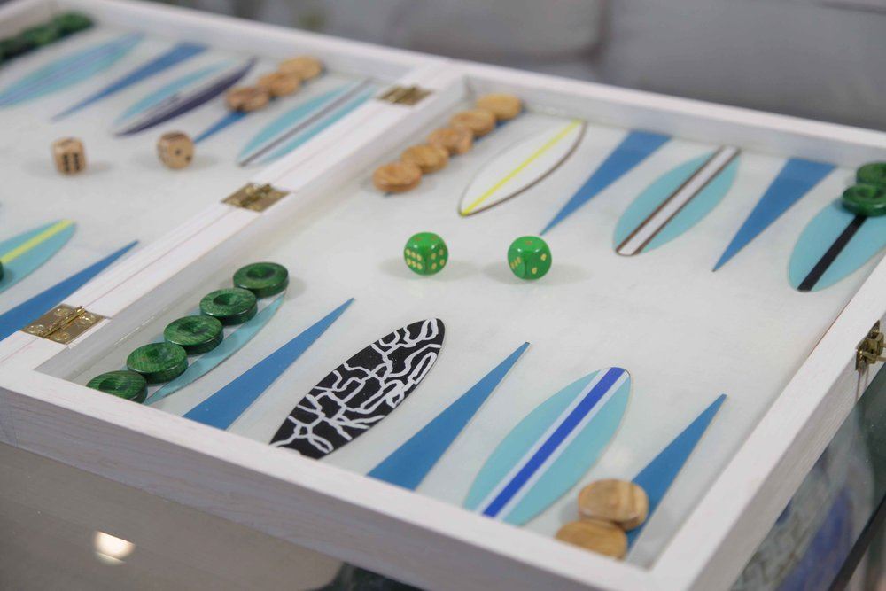"""Any custom backgammon board can be created as a folding board if desired (see """"Folding Boards"""" section for more images)."""