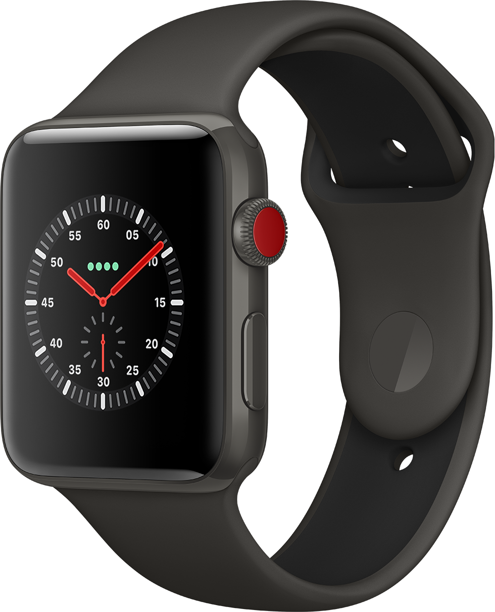 170828_AppleWatch_Series3_Cell_L_34R_Edition_Gray_SportBand_Gray_WatchOS4_Clock_Explorer-19407.png