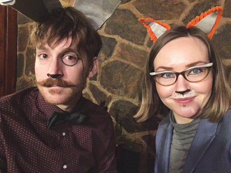 Brendan Peters and Claren Grosz host the evening as Eric the Hare and Eloise the Fox.