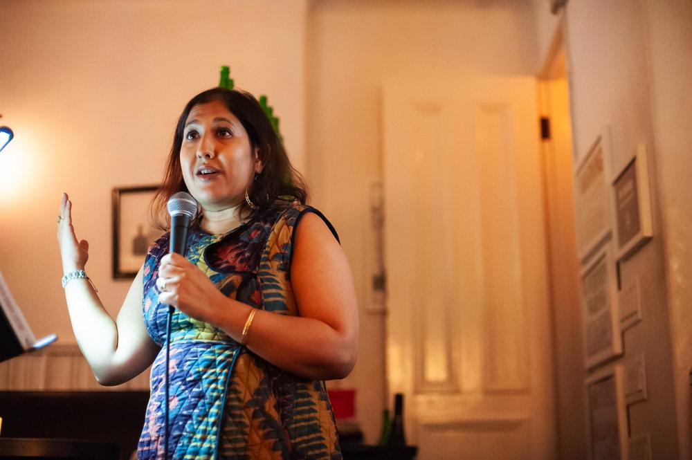 Kavita Das, Freya Project Reader. Photo by Keira Chang.