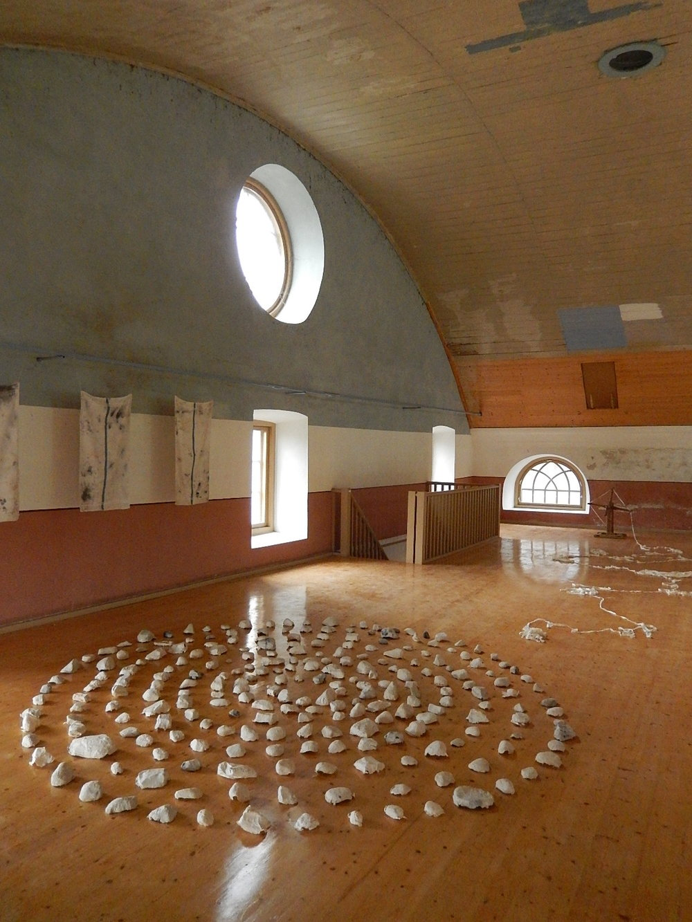Installation,  Sabile Jewish Synagogue Contemporary Art and Heritage Site , Sabile, Latvia, 2014.