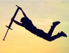 Pogo stick stunts
