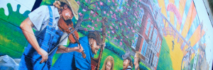 New River Gorge mural