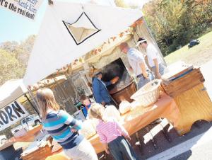 Vendors at the Bridge Day festival in WV
