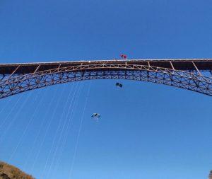 View from below the bridge!