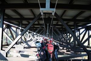 Bridge Day Rappellers on the Catwalk