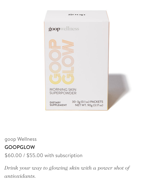 "$60 per month for ""glow"""