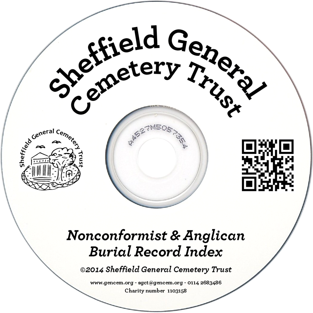 This CD  contains the names, dates of death, dates of burial and ages of all 87,000 burials at the General Cemetery. The data is in Microsoft Excel format and the disc contains Microsoft Excel reader software if you don't have Microsoft Office.   Please Note –  The data does not include the burial plot locations. Our search team are more than happy to provide individual plot locations on request free of charge to customers who purchase a CD.   Price £12.00 including VAT
