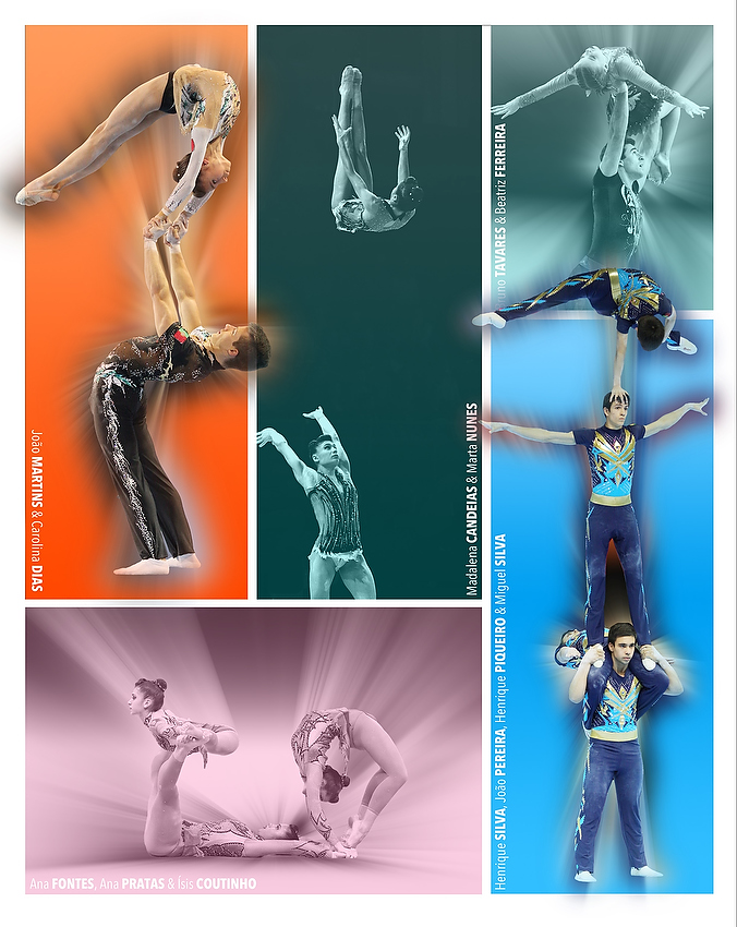 The group (still with João) is featured in the acrobatic Gymnastics Calendar (click to view).