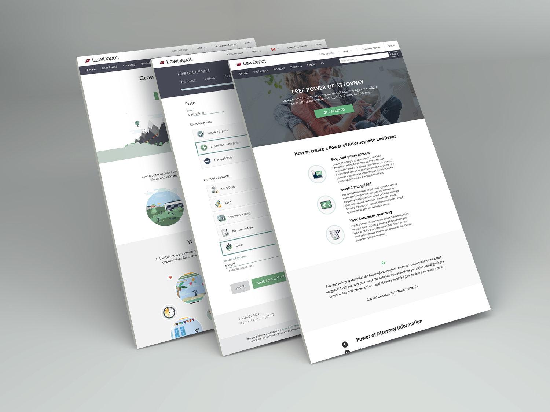 Perspective Web Design Mockup
