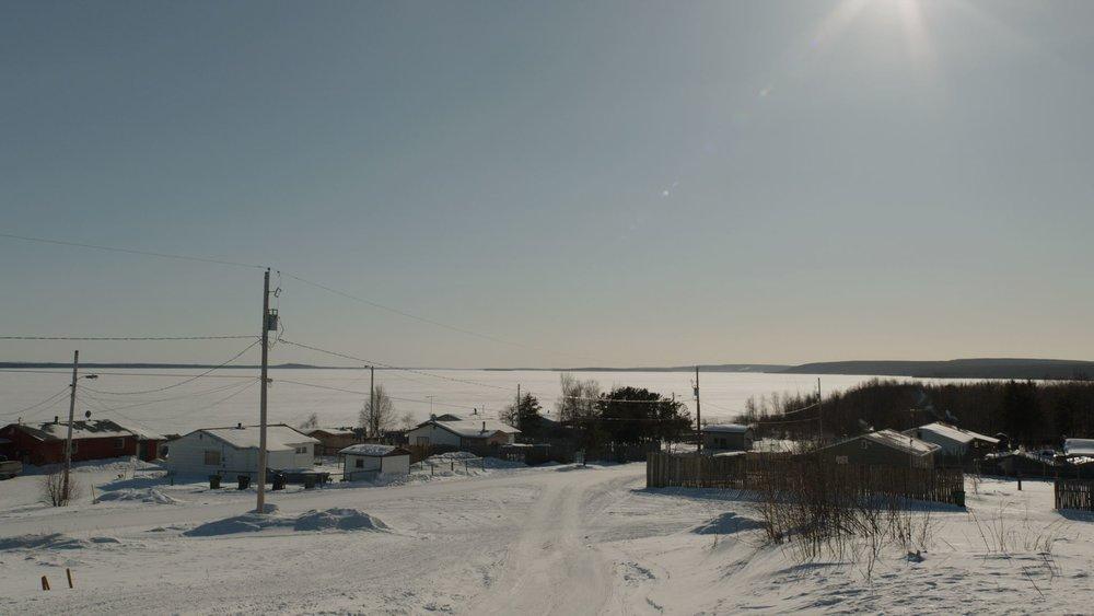 The Déné community in Wollaston Lake, Saskatchewan.