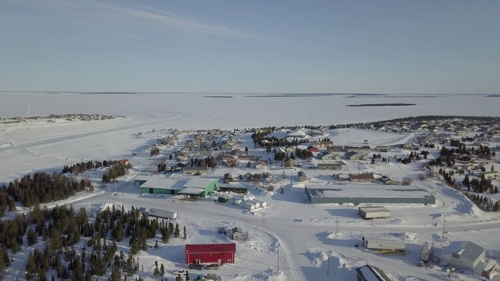 The Déné community at Wollaston Lake, Saskatchewan.