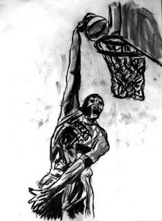 basketball art, basketball image, sport art, artist John Robertson,