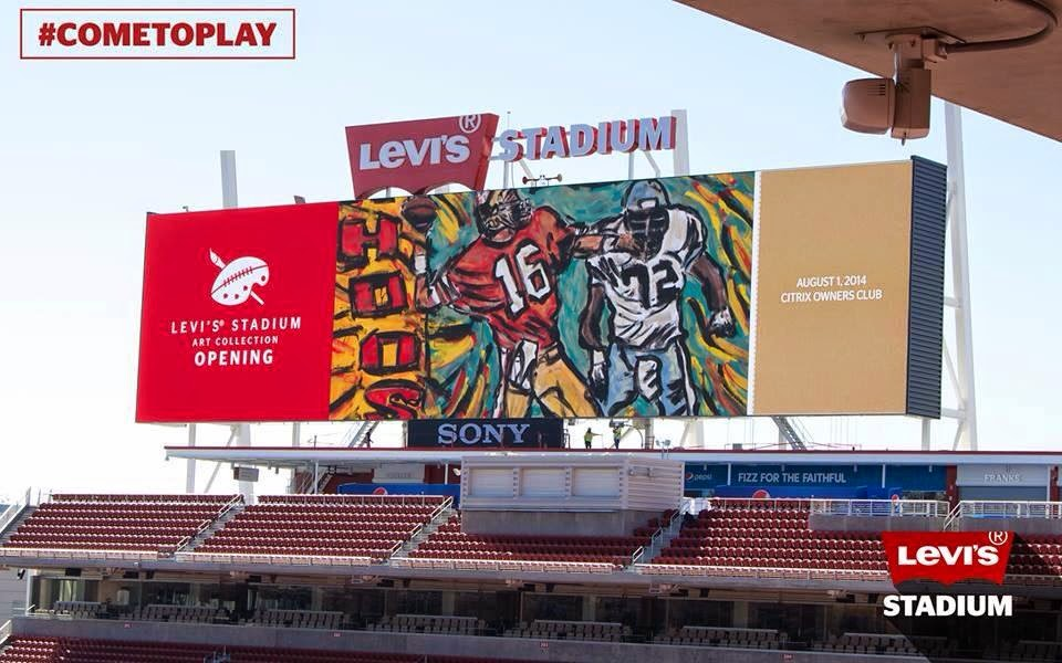 Levis stadium montana painting on screen.jpg