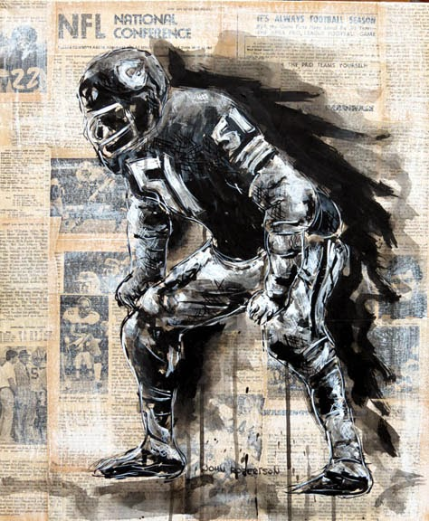 Football Painting Dick Butkus Chicago Bears art.jpg