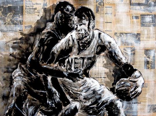 Basketball Painting Brooklyn Nets NBA art.jpg